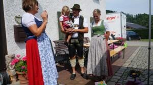 Weisen beim Moar z'Bruck 25.07.2021 - Brigitte Sperger, Julia, Hans und Katrin Wallner